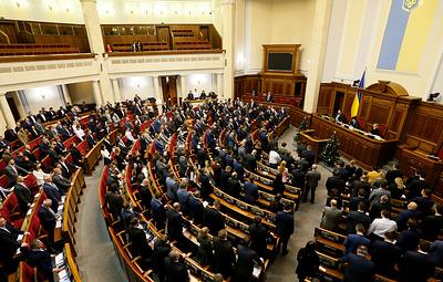 Парламент Украины продлил на год закон об особом статусе Донбасса