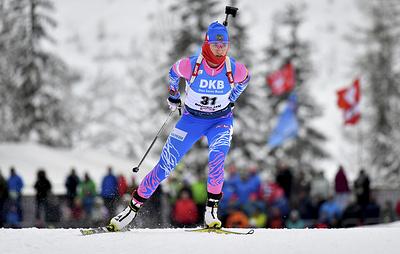 Столкновение на трассе чуть не лишило Миронову первой медали Кубка мира по биатлону