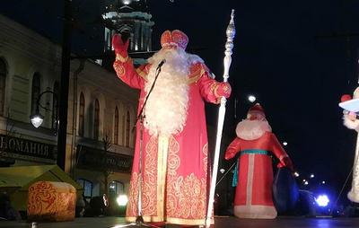 В Рыбинске прошло шествие 2020 Дедов Морозов
