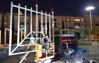 Израиль зажигает огни в честь праздника света Хануки