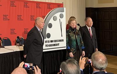 """Часы Судного дня теперь показывают 100 секунд до """"ядерной полуночи"""""""