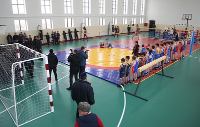 Физкультурно-спортивный комплекс открылся в одном из сел Чечни