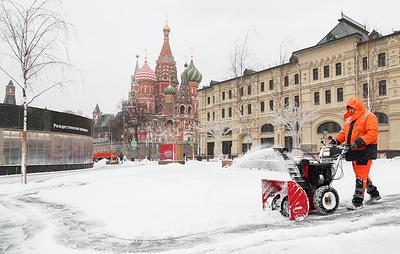 Высота снега в Москве 31 января достигла 11 см