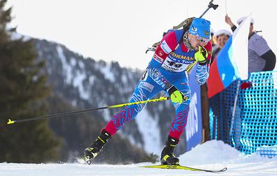 Российский биатлонист Александр Логинов выиграл спринт на чемпионате мира