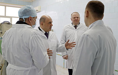 Мишустин осмотрел в Кургане операционный блок городской больницы скорой медпомощи