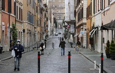 В Риме впервые зафиксировали спад числа заразившихся коронавирусом