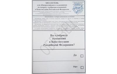 Как будет выглядеть бюллетень для голосования по изменениям в Конституции РФ