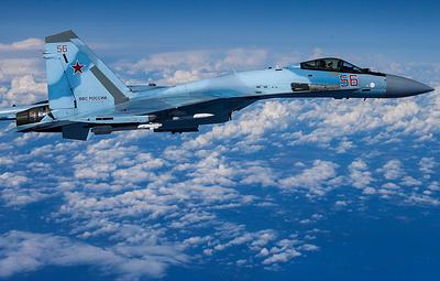 Истребители Су-27 были подняты в воздух для перехвата самолета ВВС США над Черным морем