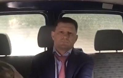 СК распространил видео задержания губернатора Хабаровского края