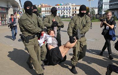 Задержания начались на несанкционированной акции протеста в Минске