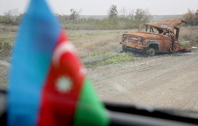 Машина подорвалась на мине в Физулинском районе Азербайджана. Погибли пять человек