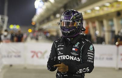 """Хэмилтон выиграл квалификацию этапа """"Формулы-1"""" в Бахрейне"""