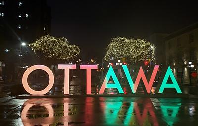 В Канаде зажгли рождественские огни в преддверии главного национального праздника