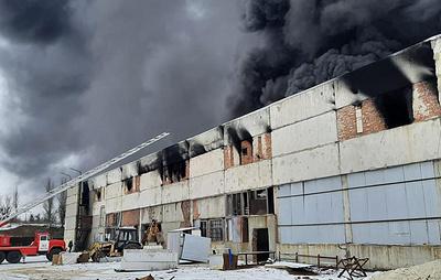 В Ростовской области возник пожар на производстве полимерной упаковки