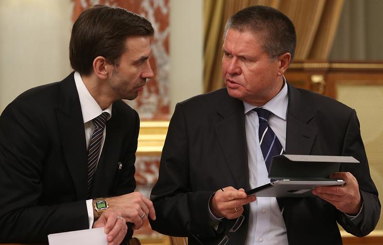 Министр РФ по связям с Открытым правительством Михаил Абызов и министр экономического развития РФ Алексей Улюкаев