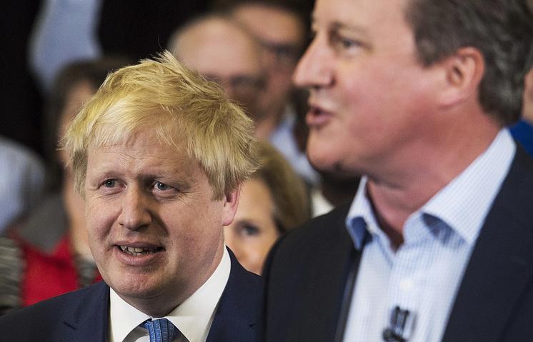 Boris Johnson e David Cameron