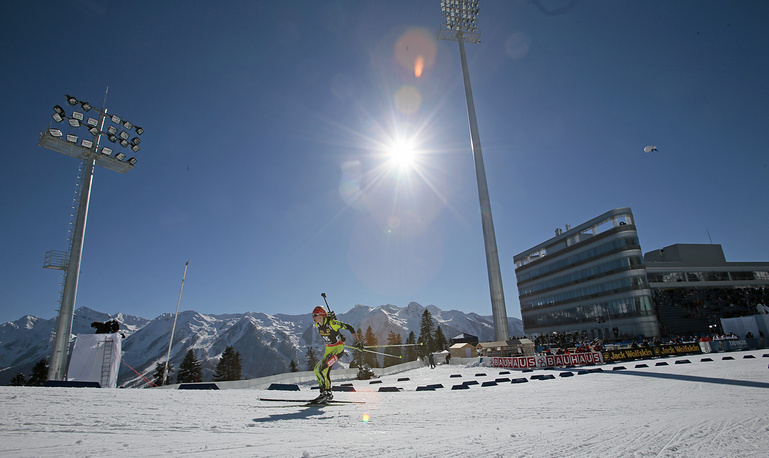 Skiing and biathlon complex Laura is situated at 850-1,430 meters above the sea level