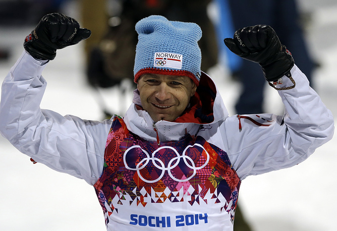 40-year-old Norwegian athlete Ole Einar Bjorndalen won his seventh Olympic gold medal