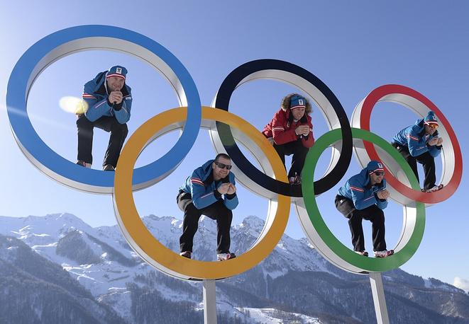 Austrian skiers