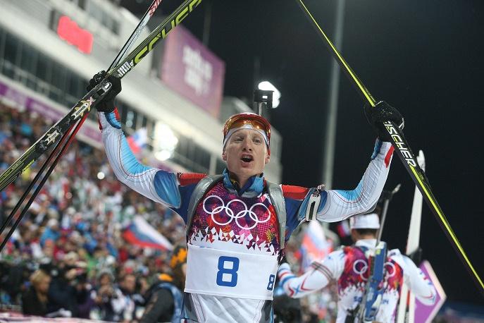 Czech biathlete Ondrej Moravec won silver