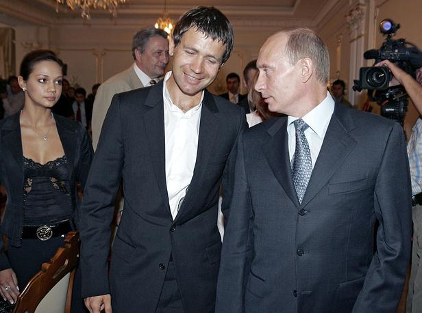 President Vladimir Putin and Ole Einar Bjorndalen in 2007
