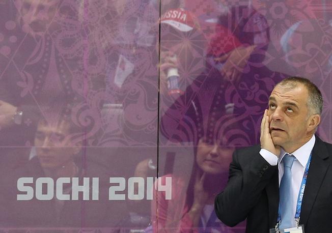 Slovenia's chief coach Matjaž Kopitar
