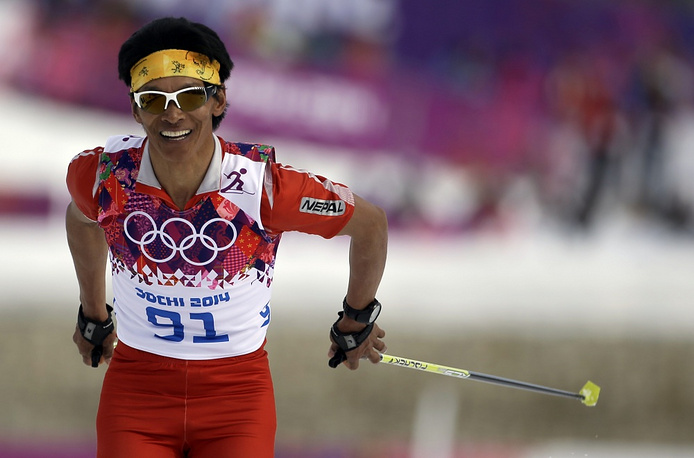 For Nepal, Sochi Olympics are the fourth. And for the third time in a row the only athlete to represent the country is skier Dachiri Dawa Sherpa