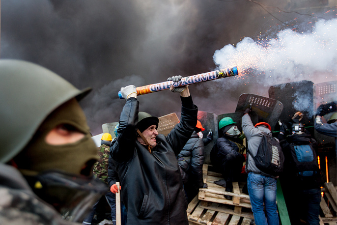 Protesters widely use fireworks as weapons