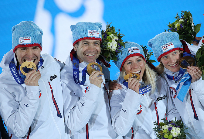 Norway's mixed relay team