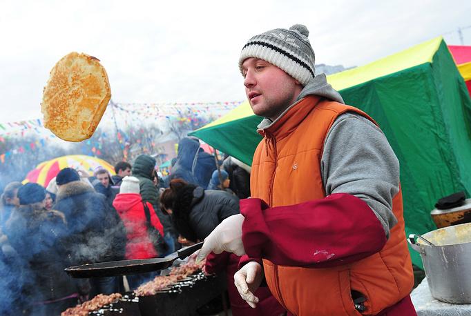 Maslenitsa celebration in Ryazan