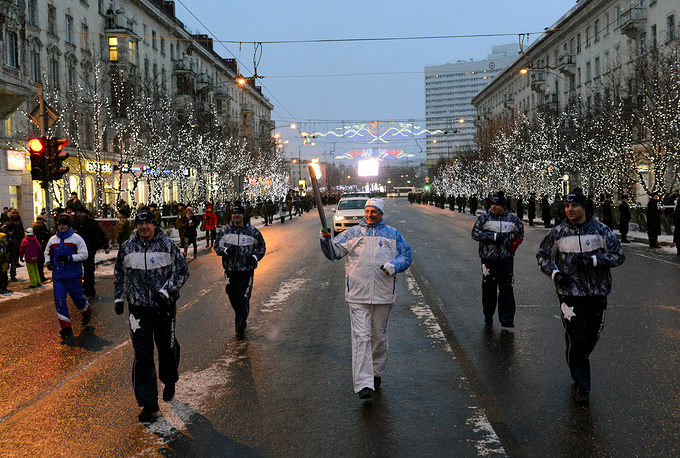 Paralympic torch relay in Murmansk