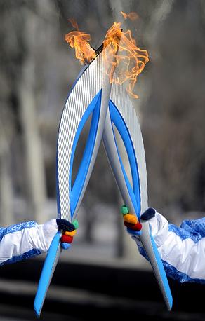 Paralympic torch relay in Volgograd