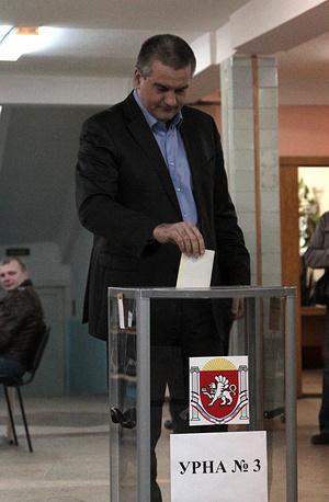 Crimea's Prime Minister Sergey Aksyonov