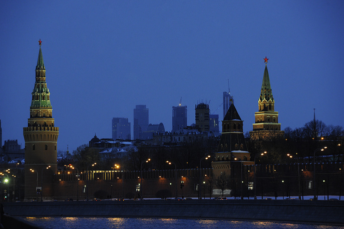 Moscow switched off the lights in 2013. Photo: Kremlin with the lights off