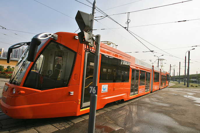 New-generation trams were introduced in Moscow in 2006