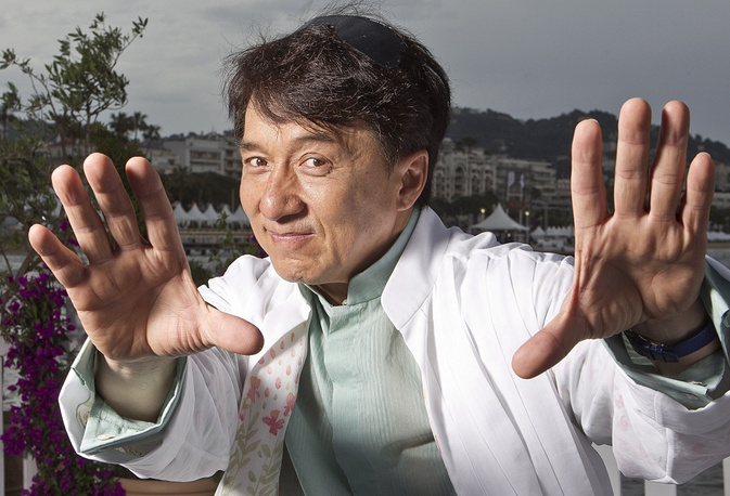 Chan holds four Guinness World Records. Photo: Jackie Chan in Cannes in 2012