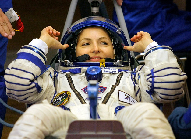 Anousheh Ansari was the first woman-tourist to arrive at the ISS and the fourth space tourist to travel there. She flew with a Soyuz TMA-9 and spent 8 days at the station, Sep. 20 – 28 2006. The flight cost her $20 mln.