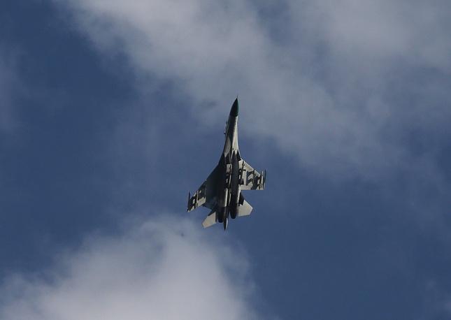 Ukrainian fighter jet near Kramatorsk