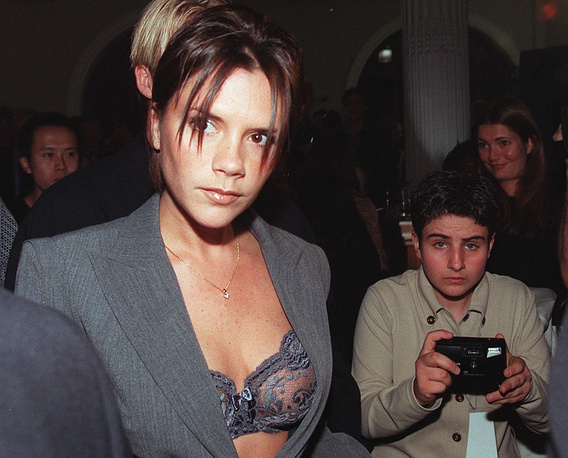 Victoria Beckham earned her fame as Posh Spice in the Spice Girls pop group in the late 1990's. Photo: Viktoria Adams in 1998