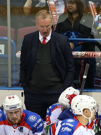 Prague's head coach Kari Jalonen
