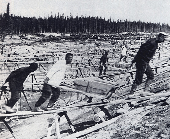 The canal was built by GULAG prisoners. Thousands of people died during the construction