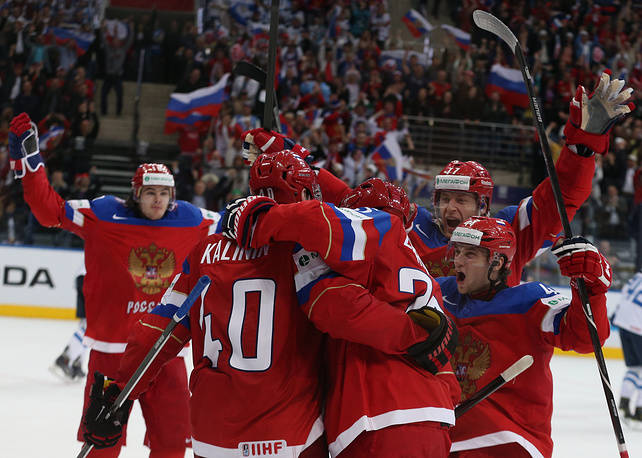 The Russian team won the game against Finland with the score of 4:2 on May 11