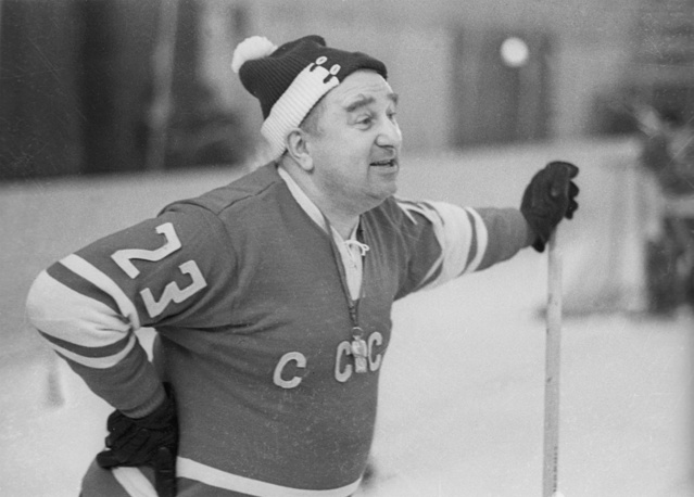 Anatoly Tarasov served as national team coach from 1958 to 1960. He was inducted into the Hockey Hall of Fame. Tarasov is considered father of the USSR's ice hockey program