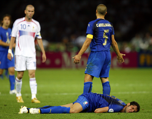 2006 FIFA World Cup held in Germany is famous for its final, where France's Zinedine Zidane was sent off in his last-ever match, for headbutting Italy's Marco Materazzi's chest.  Italy beat France on penalties