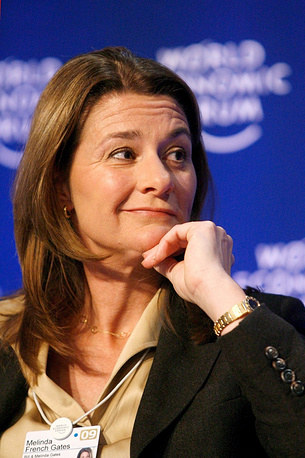 Co-founder of the Bill & Melinda Gates Foundation and the wife of Bill GatesMelinda Gates