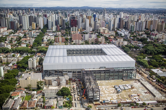 Arena da Baixada opened in 1914 in Curitiba, it is the home stadium of Atletico Paranaense, who also own it. The capacity is 47,000