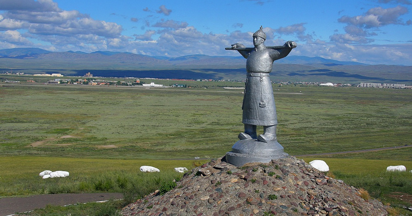 A monument to shepherds in Russia's Tyva Republic