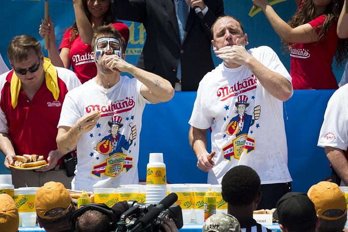 The tradition of holding Hot Dog Eating World Championship in New York on Independence Day has existed since 1916
