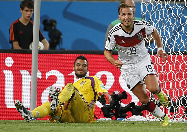 Mario Goetze of Germany scored the only goal (113')