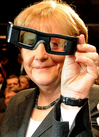 Angela Merkel at the CeBIT IT exhibition opening in Hannover in 2010